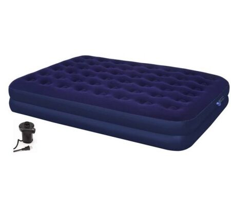 Queen double thick air bed with pump