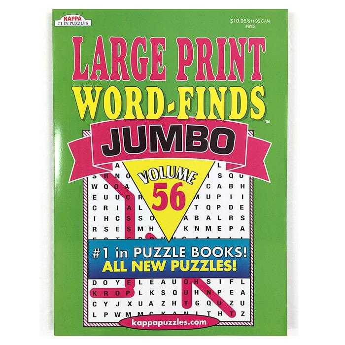 KAPPA Jumbo Large Print Word Finds Puzzle Book - Mazer Wholesale