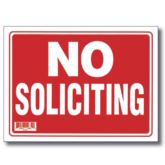 It's just a graphic of Ambitious Free Printable No Soliciting Sign