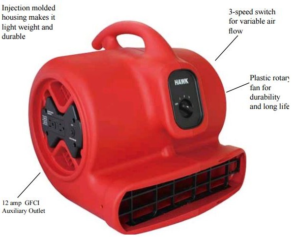 industrial air movers-floor driers