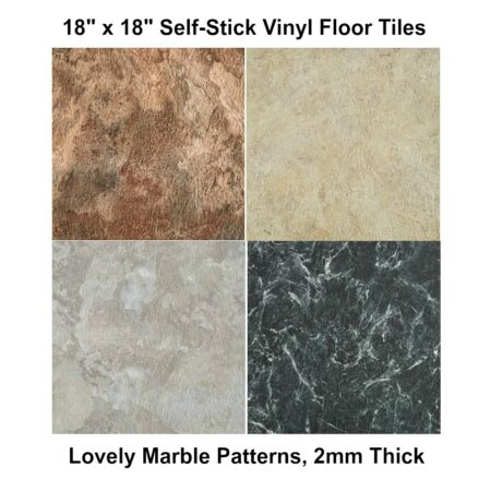Thicker, 2mm 18 x 18 Peel & Stick Floor Tile