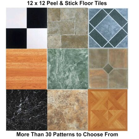 "Self Adhesive Vinyl Floor Tile 12"" x 12"""