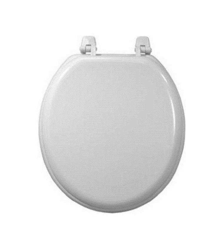 Plain White Wood Toilet Seat Standard Size 17 Mazer Wholesale