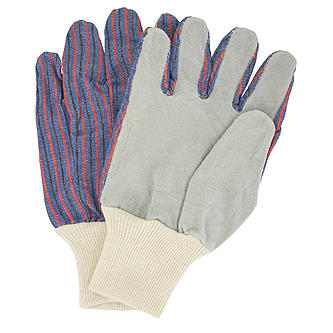 leather palm knit wrist work gloves wholesale