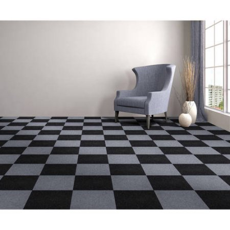 Peel Amp Stick Carpet Tiles Jet Black Mazer Wholesale Inc