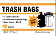 Wholesale trash bags, 33-gallon can liners