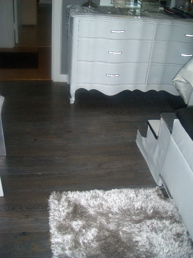 silver spruce installed in bedroom