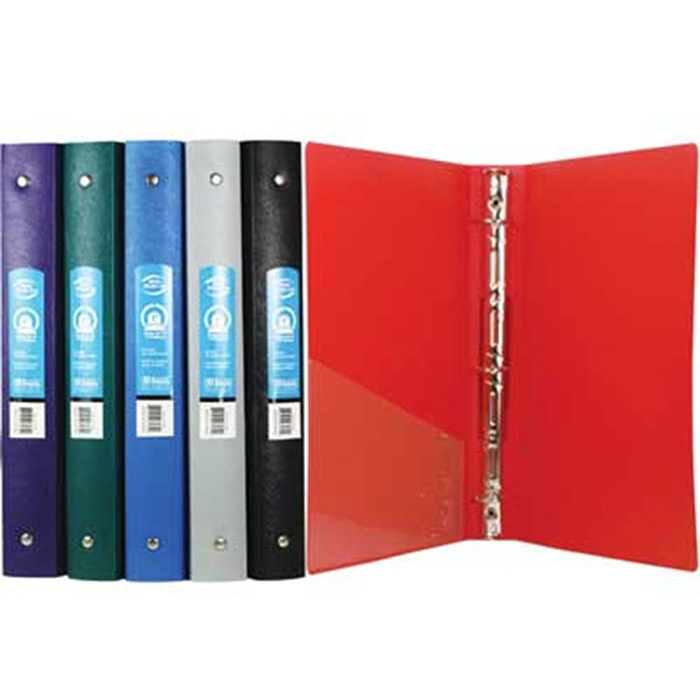 """Cheap 1"""" 3-Ring Binder with Pocket"""