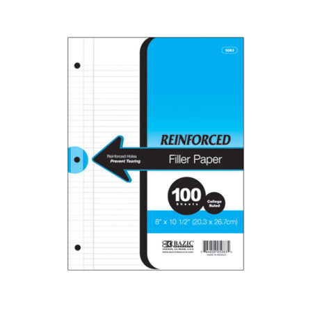 reinforced college ruled paper