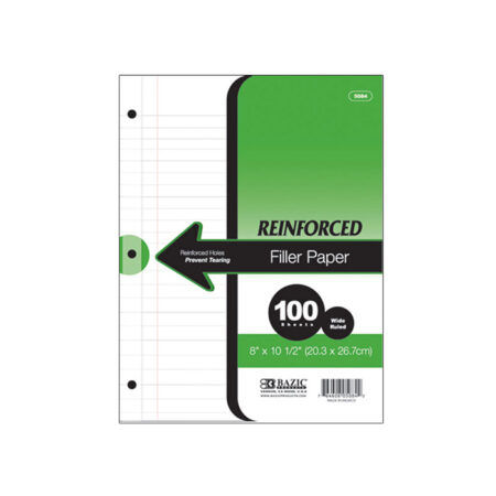 reinforced wide ruled paper