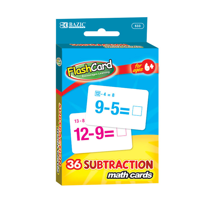 Cheap Subtraction Flash Cards