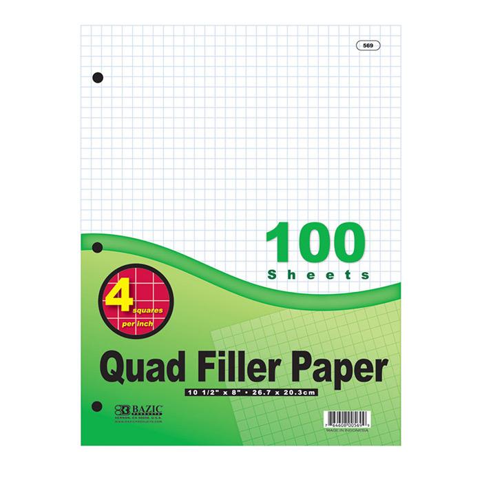 Cheap quad ruled filler paper