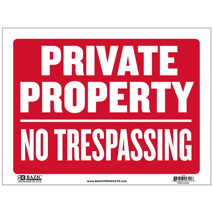 photo about Printable No Trespassing Sign called Particular House No Tresping Indication, 12 X 16