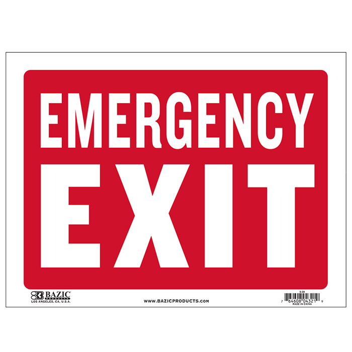 Cheap emergency exit signs
