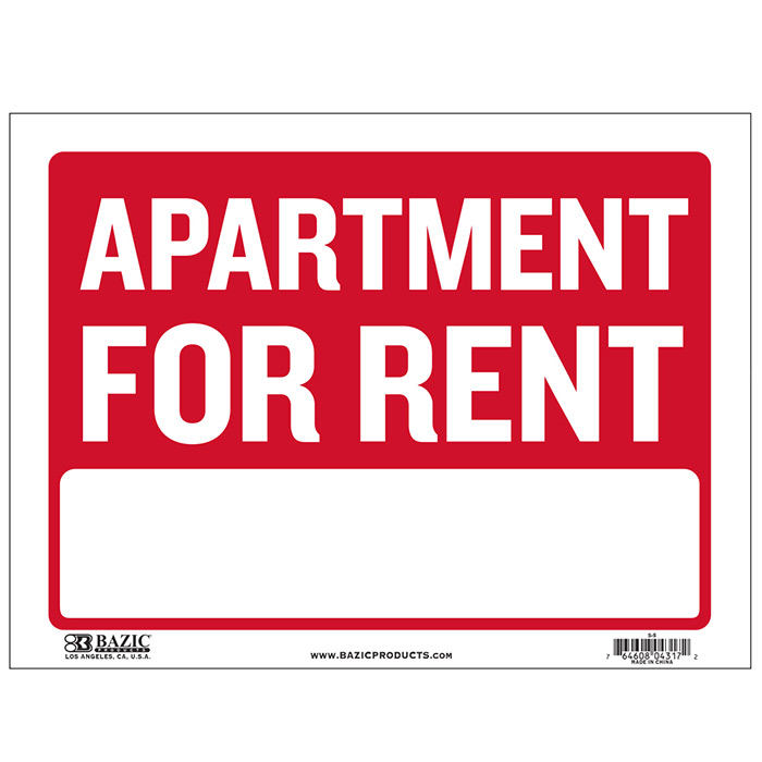 Affordable Apartments For Rent: Apartment For Rent Signs-Cheap Plastic Signs-Wholesale
