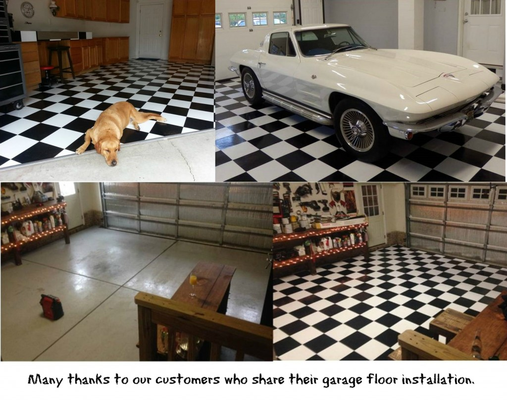 Garage and basement flooring tile