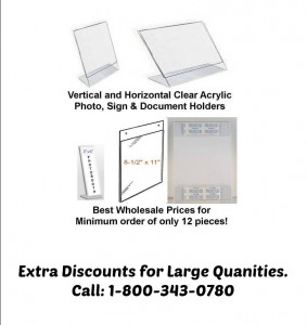 clear plastic sign holders