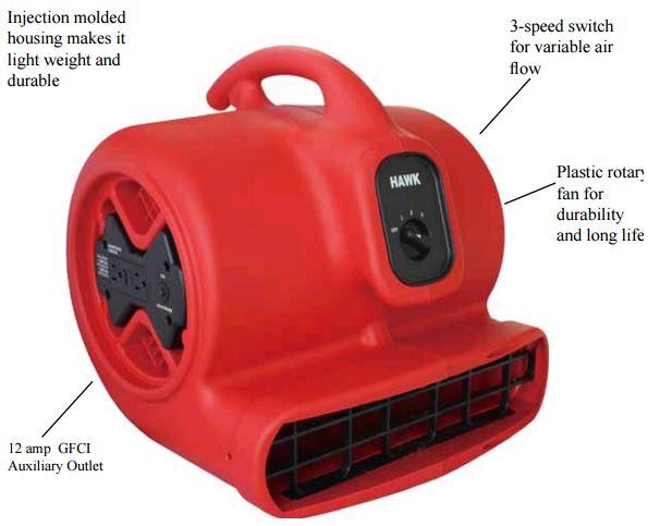 industrial air movers-floor driers