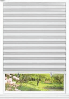 white cordless pleated shades
