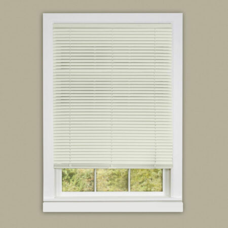 "1"" Vinyl Room Darkening Mini Blind-White"