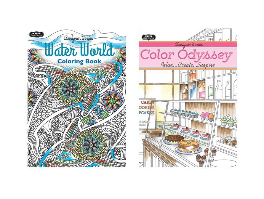 Adult Coloring Books-Wholesale Assortment #3 - Mazer Wholesale, Inc.