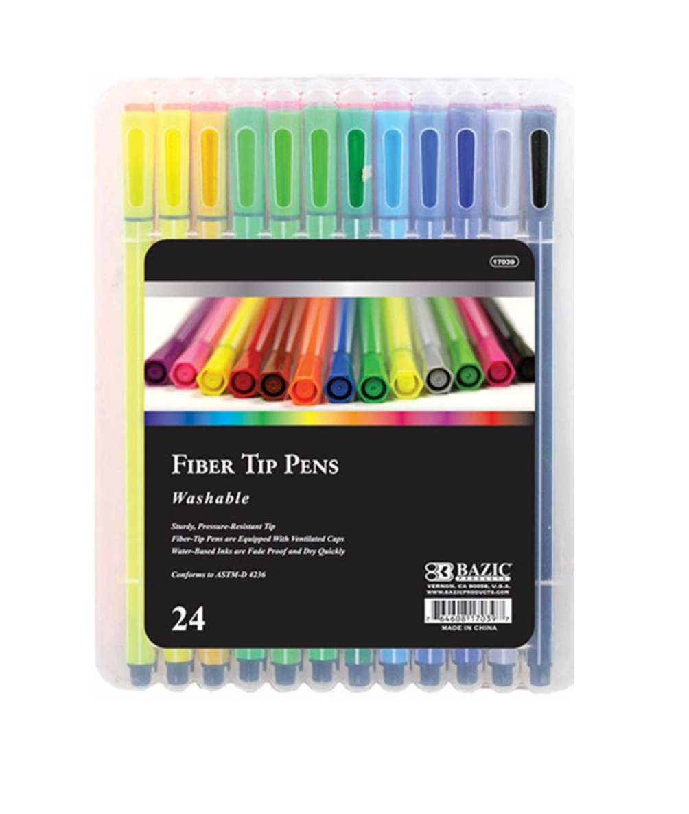 Fiber Tip Coloring Markers for Adult Coloring Art Activities