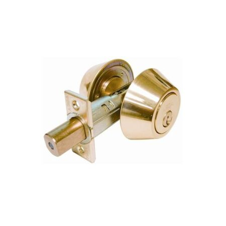 Double cylinger deadbolt lock