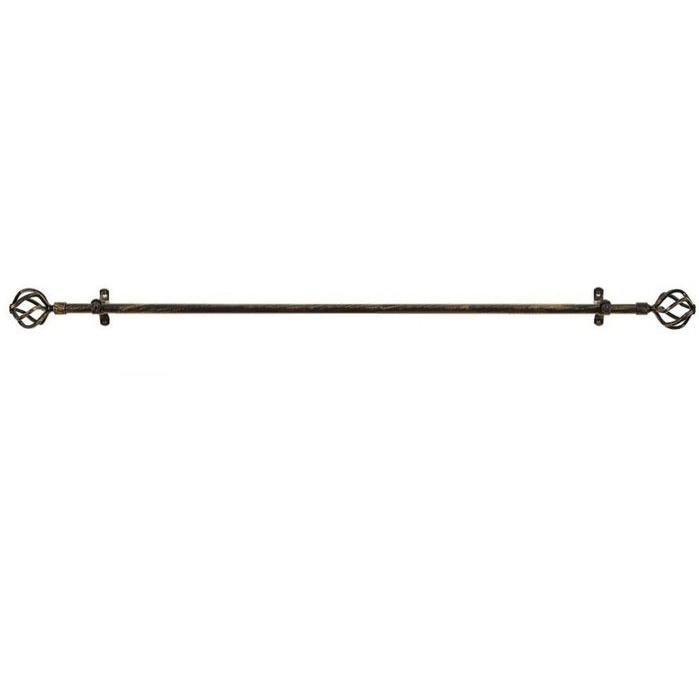 Metallo Decorative Rod Finial Avalon Black Gold 66 120