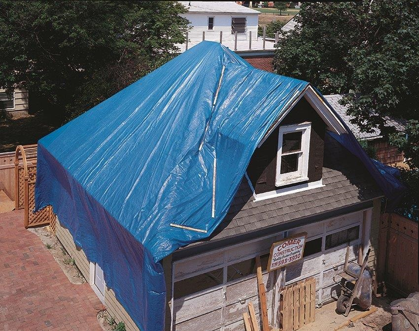 Blue Tarp Whole House Image Mazer Wholesale Inc