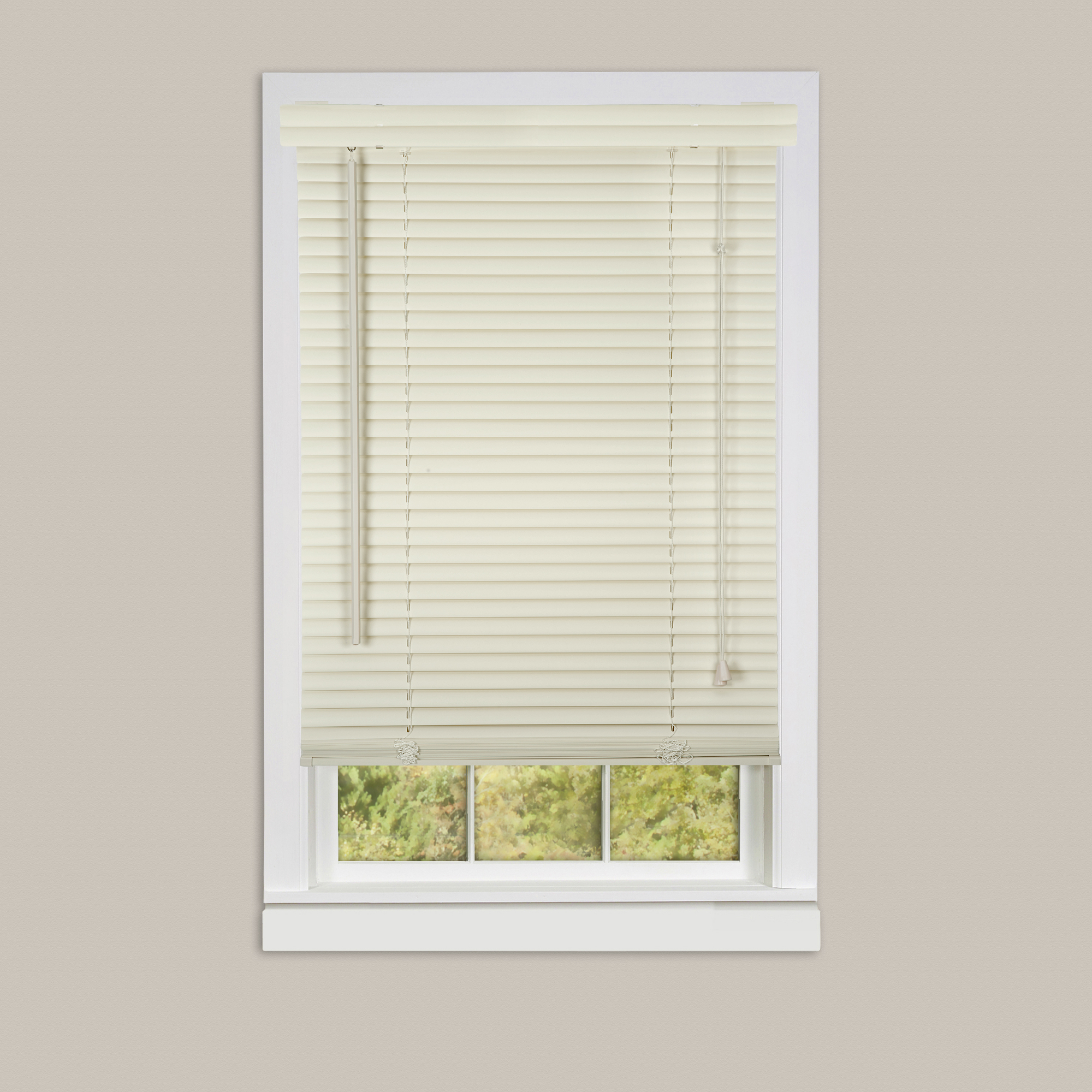 Inexpensive mini blinds 18x42 vinyl alabaster for 18 inch window blinds