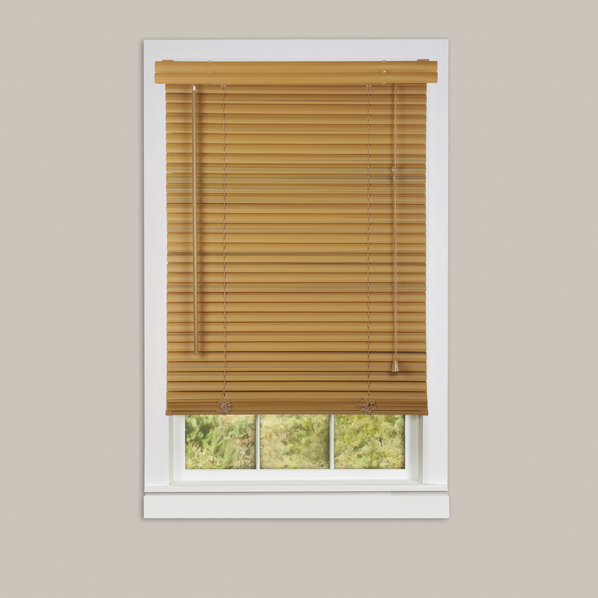 Inexpensive mini blinds 29x64 vinyl wood for Cheap vinyl windows