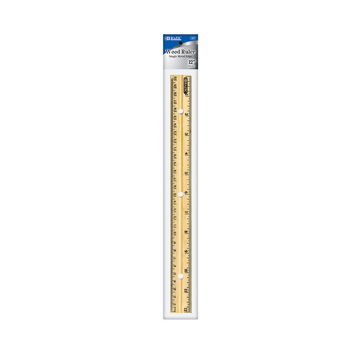 12 30cm Wooden Ruler