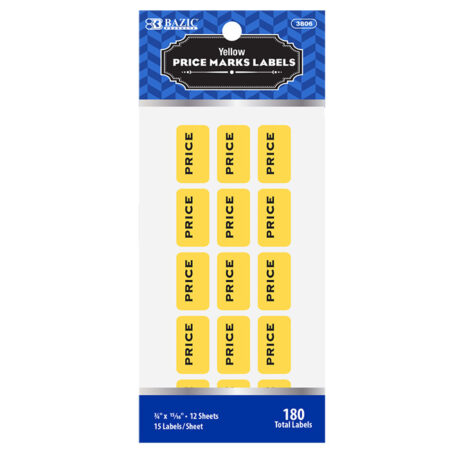 Cheap Yellow Price Mark Labels
