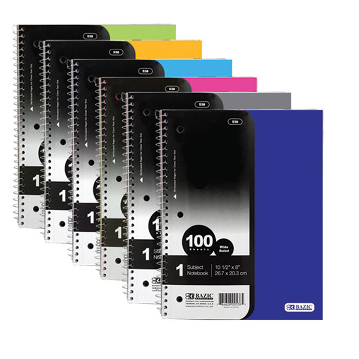Cheap 1 Subject Notebooks