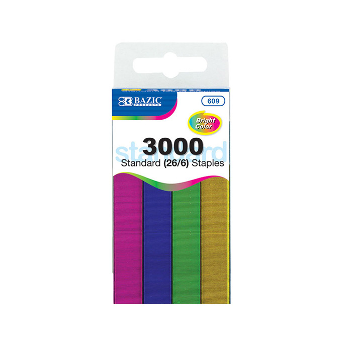 3000 Ct Standard 26 6 Metallic Color Staples