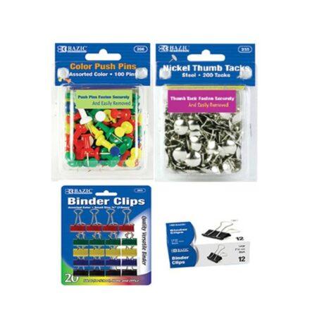 PAPER CLIPS-BINDER CLIPS-TACKS-PINS