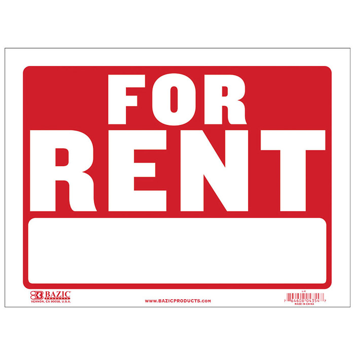 Rent Cheap: For Rent Signs-Cheap Plastic Signs-Wholesale-Bulk Pricing