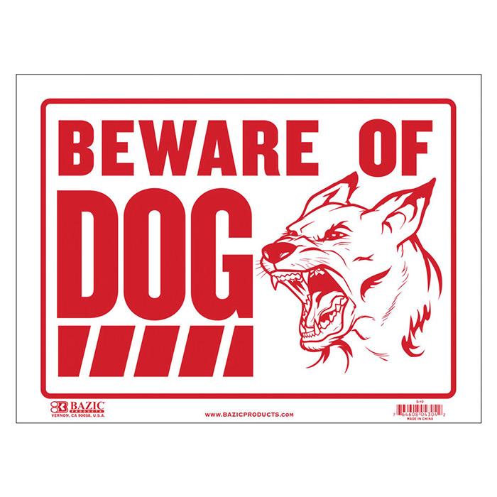 cheap plastic beware of dog sign
