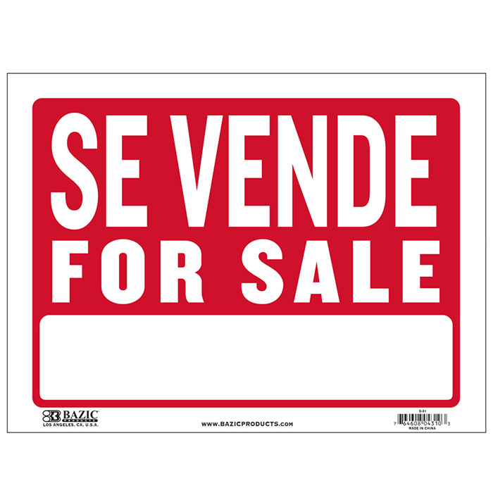 cheap spanish for sale signs