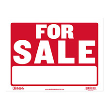 cheap plastic for sale signs