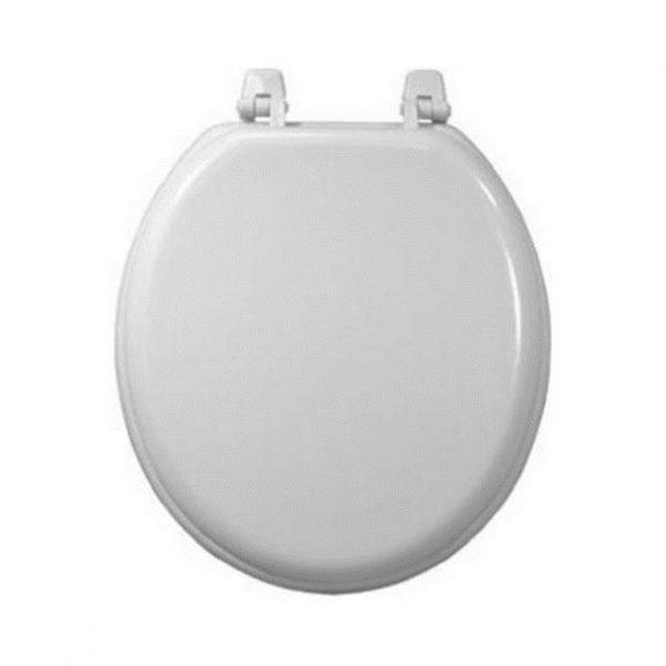 Plain White Wood Toilet Seat Standard Size 17