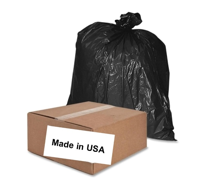 trash bags and trash can liners made in USA