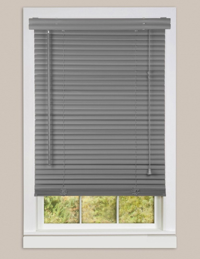 Mini Blinds Gray1