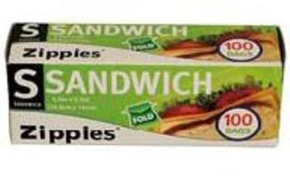 Fold-Over Sandwich Bags 100 PC