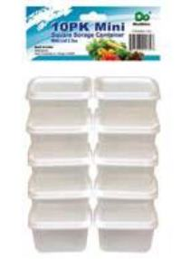 Mini Square Storage Containers with Lid 3.0oz-10PK