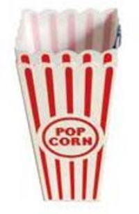 Popcorn Holders 2PK 3.5x3.5x6.5