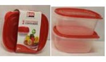 RECTANGULAR FOOD STORAGE CONTAINERS(1.9L)-2PK
