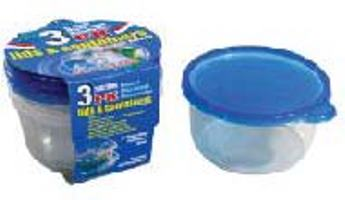 Round Container with Lid 25oz-3PK