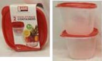 SQUARE FOOD STORAGE CONTAINERS(1.7L)-2PK