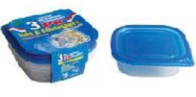 Square Container with Lid 25oz-3PK